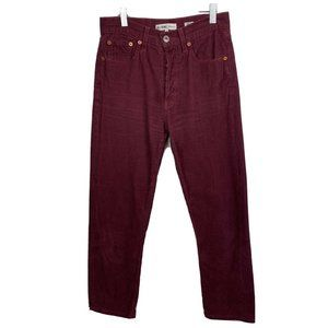 Re/Done Originals Corduroy Pants 26 Maroon  Crop